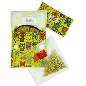 Baby / Child Perfect For School See-Through Food Safe Sugarbooger Set Of 3 Good Lunch Snack Sack-Hungrymonster Infant