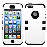 MYBAT IPHONE5HPCTUFFSO002NP Premium TUFF Case for iPhone 5 - 1 Pack - Retail Packaging - Ivory White/Black