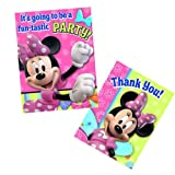 Disney Bow-tique Minnie Mouse Party Invitations and Thank You Notes