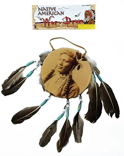 Forum Novelties Men's Novelty Native American War Drum, Brown, One Size