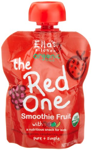 Ella's Kitchen Organic Smoothie Fruits, The Red One, 3-Ounce Pouches (Pack of  7)