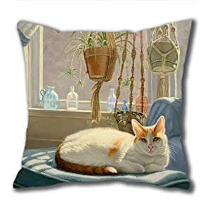 Illustration Painting Let It Glow Standard Size Design Square Pillowcase/Cotton Pillowcase with Invisible Zipper in 40*40CM 16*16(527)-527009 from Square Pillowcase