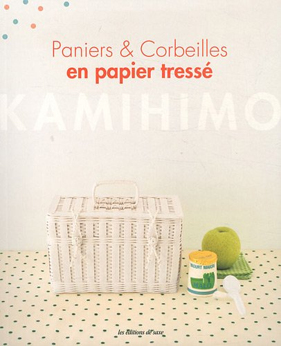 paniers corbeilles en papier tress kamihimo. Black Bedroom Furniture Sets. Home Design Ideas