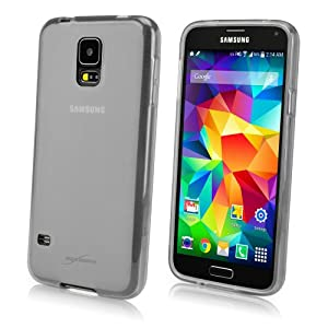 BoxWave Samsung Galaxy S5 Arctic Frost Crystal Slip - Slim Fit Frosted TPU Gel Skin Case for Samsung Galaxy S5 Durable Anti-Slip Protection - Samsung Galaxy S5 Cases and Covers (Frosted Clear)