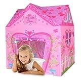 Kiddus KI60109 Tienda de campa�a/casa/carpa de jugar plegable Mi Casita Rosa de tela, estimula la imaginaci�n y aventuras. Para interior y exterior