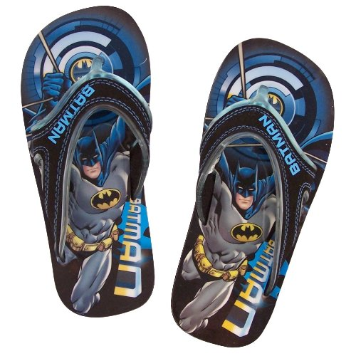 Cheap Batman Little Kid / Young Boys Flip Flops / Thongs Black Sandals (B004SHCTIM)