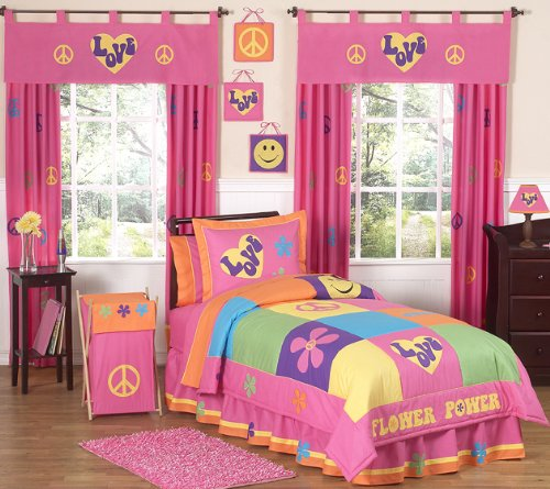 Groovy Peace Sign Children's Bedding - 4pc Twin Set