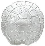 "Clear Glass Turtle Shell Large Platter 13 1/2""x 13 1/4"""