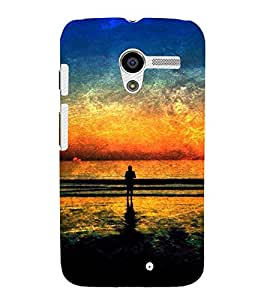 printtech Nature Sunset Scenery Abstract Back Case Cover for Motorola Moto X XT1058 / Motorola Moto X (1st Gen)
