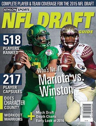 Athlon Sports 2015 Pro Football NFL Draft Guide Magazine- Marcus Mariota & Jameis Winston