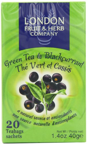 London Fruit And Herb Green Tea and Blackcurrant 20 Teabags (Pack of 12, Total 240 Teabags)