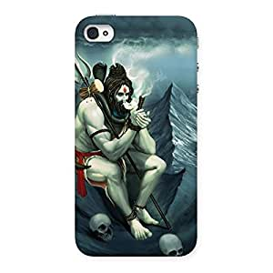 Delighted Om Shiva Multicolor Back Case Cover for iPhone 4 4s