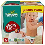 Pampers Easy Up Size 5 (26-40 lbs/12-18 kg) Jumbo Pack of 54 Training Pants