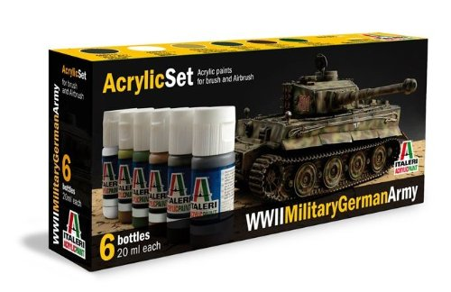 Italeri-510000433-Acryl-Set-WWII-Military-German-Army