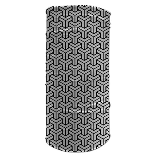 Tubular Neck Warmer 12 in 1 Sports Bandana Geometric Pattern #2 Biker Balaclava Head Wrap (Morf Suit)
