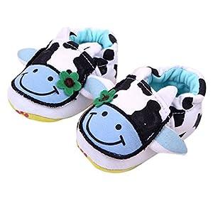 Froomer Froomer Zapatos De Bebé De Algodón vaca lechera Suave Con Suela Infantil Preandador Primeros Pasos AZ