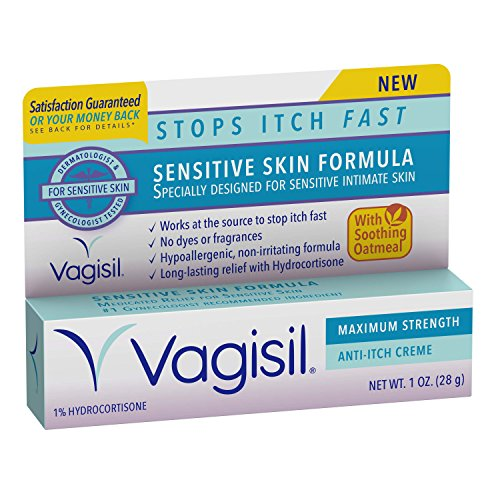 Vagisil Maximum Strength Anti-Itch Creme, Sensitive Skin Formula, 1 Ounce (Anti Itch Skin Spray compare prices)