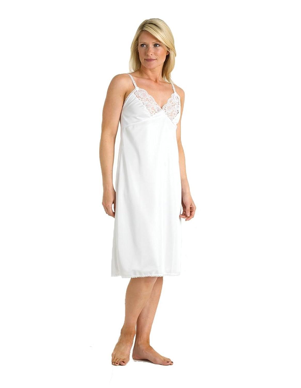 Slenderella Kayser Slip mit verstellbaren Trägern in Weiß, Länge 41″ KB710 günstig kaufen