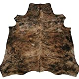 Real South American Cowhide Rug Medium Brown Exotic
