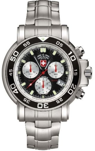 CX Swiss Military (by Montres Charmex SA) Navy Diver 500 Black