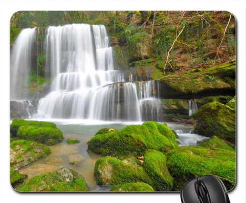 Cascades du Verneau, France Mouse Pad, Mousepad (Waterfalls Mouse Pad)