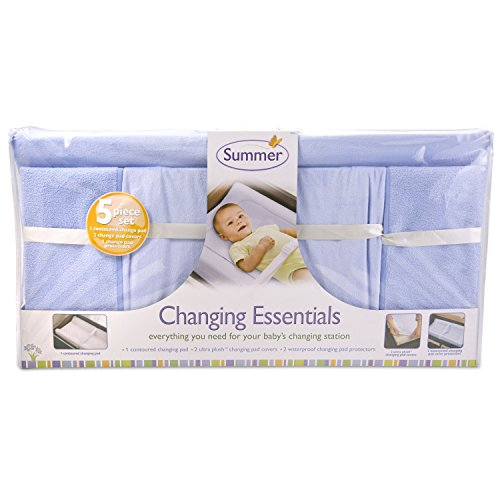 Summer Infant 5-Piece Essentials Diaper Changing Kits, Blue