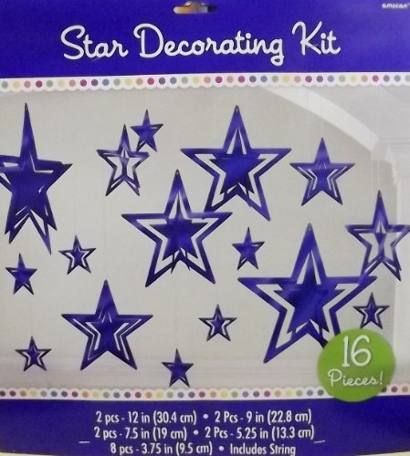 3-d Foil Star Decorating Kit - 1