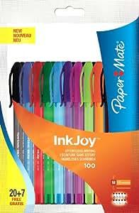 Papermate Inkjoy 100 Cap Stylo Bille Pointe Moyenne Assortiment Fun, Lot de 27