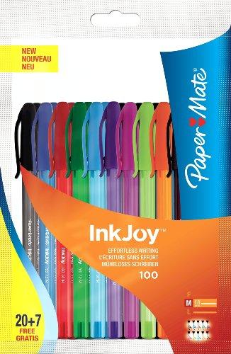 paper-mate-inkjoy-100-kugelschreiber-mit-kappe-farblich-sortiert-27-stuck