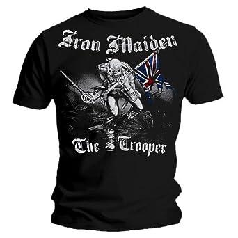 Official T Shirt IRON MAIDEN Watermark SKETCHED TROOPER Vintage Eddie S