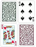 Copag Poker Size Regular Index 1546 Playing Cards (Green Burgundy Setup)