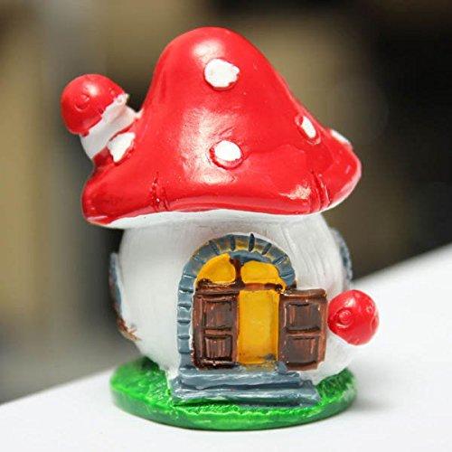 Mini Mushroom House Micro Landscape Decorations Garden DIY Decor
