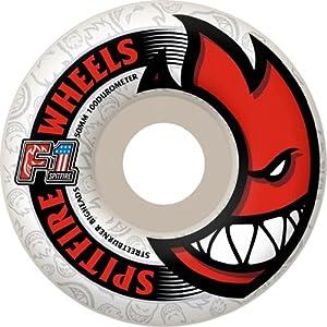 Buy Spitfire F1 Street Burners Bighead White Skateboard Wheels - 50mm 100a (Set of 4) by Spitfire