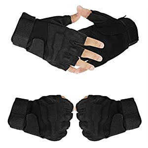 Continu® Military Half-finger Fingerless Tactical Airsoft Hunting Riding Cycling Gloves Size M L XL by Continu