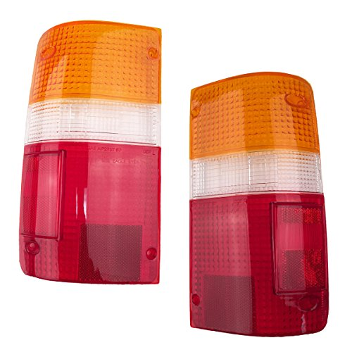 1989-1995 Toyota Pickup Truck 2WD & 4WD Tail Light Lamp Taillight Taillamp Lens Only Pair Set: Right Passenger AND Left Driver Side (1989 89 1990 90 1991 91 1992 92 1993 93 1994 94 1995 95) (Toyota Pickup Truck compare prices)