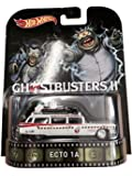 Ghostbusters 2 Ecto-1A Hot Wheels 2015 Retro Series 1/64 Die Cast Vehicle