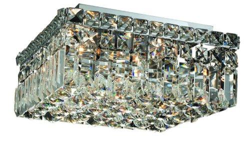 Elegant Lighting 2032F12C/Rc Maxim 5.5-Inch High 4-Light Flush Mount, Chrome Finish With Crystal (Clear) Royal Cut Rc Crystal front-684623