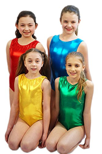 [CL COSTUMES Dance-Stage-Gymnastics Child's Metallic Lycra Leotard (5-6 Years, Lilac)] (White Rabbit Dance Costumes)