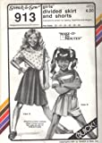 Stretch & Sew Pattern 913 ~ Girls' Divided Skirt & Shorts (Skorts) ~ Hip 22-32