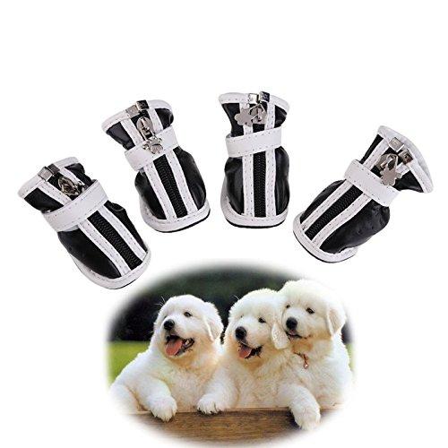Vultera (TM) Nuovo Fashion PU stivali cane scarpe comode impermeabile per Piccolo grande cane di animale domestico 5 formati