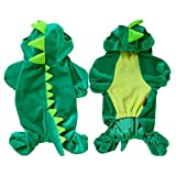 HUBEE Pet Dog Cat Halloween Dinosaur Costume Puppy Coat Outfits Jumper