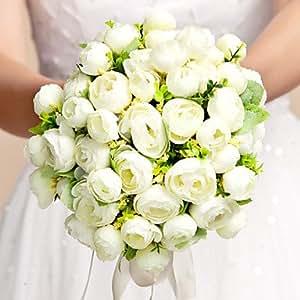 Silk Wedding Bouquet Handmade Bride Holding Flower Wedding Bouquet