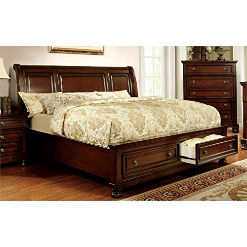 Video review furniture of america caiden queen storage for Furniture of america bed reviews