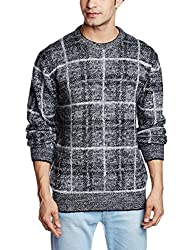 French Connection Men's Blended Sweater (886928665756_58EPA_XX-Large_Grey)