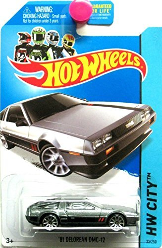 2014 Hot Wheels HW City Speed Team '81 Delorean DMC-12 (Grey with Black & Red Stripes on Sides and Hood) 33/250