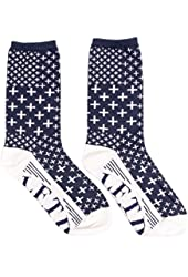 LRG Lifted Research Group Hustle & Grow Men's Crew Socks (Navy Blue)