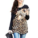Women T-Shirt Shirt Blouse Top Long Sleeve Crew Neck Fashion M L