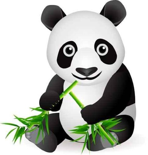 Animal Wall Decals Panda Bear - 30 Inches X 28 Inches - Peel And Stick Removable Graphic front-781606