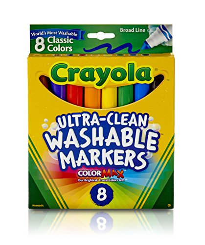 Washable Markers Broad Point Classic Colors 8/Pack - 1