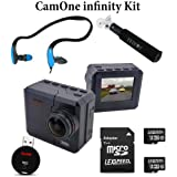 CamOne infinity + Two 16GB Cards + Micro SD Reader + Monopod + Underwater Headphone